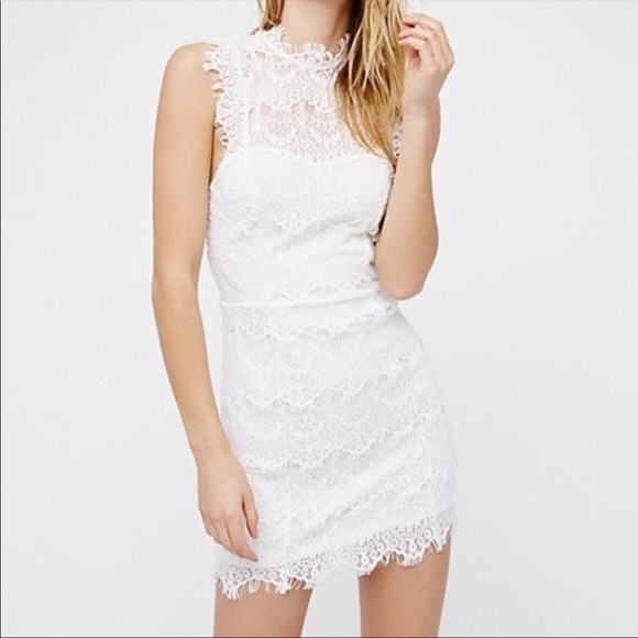Free People Dresses & Skirts - Free People Daydream Lace Bodycon Mini Dress NWT